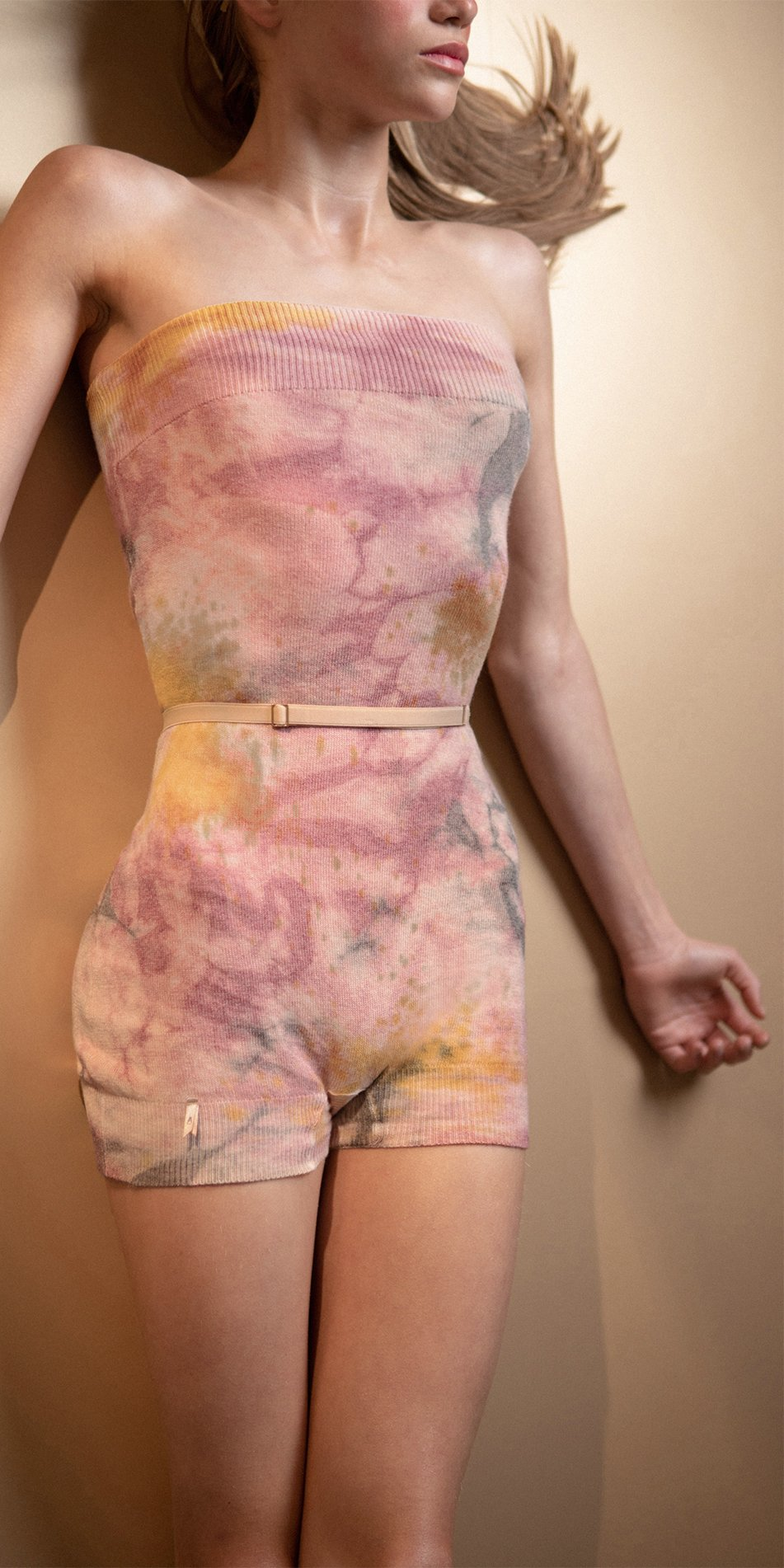 TIETIE DYE KNIWEAR shorts burgundy 14