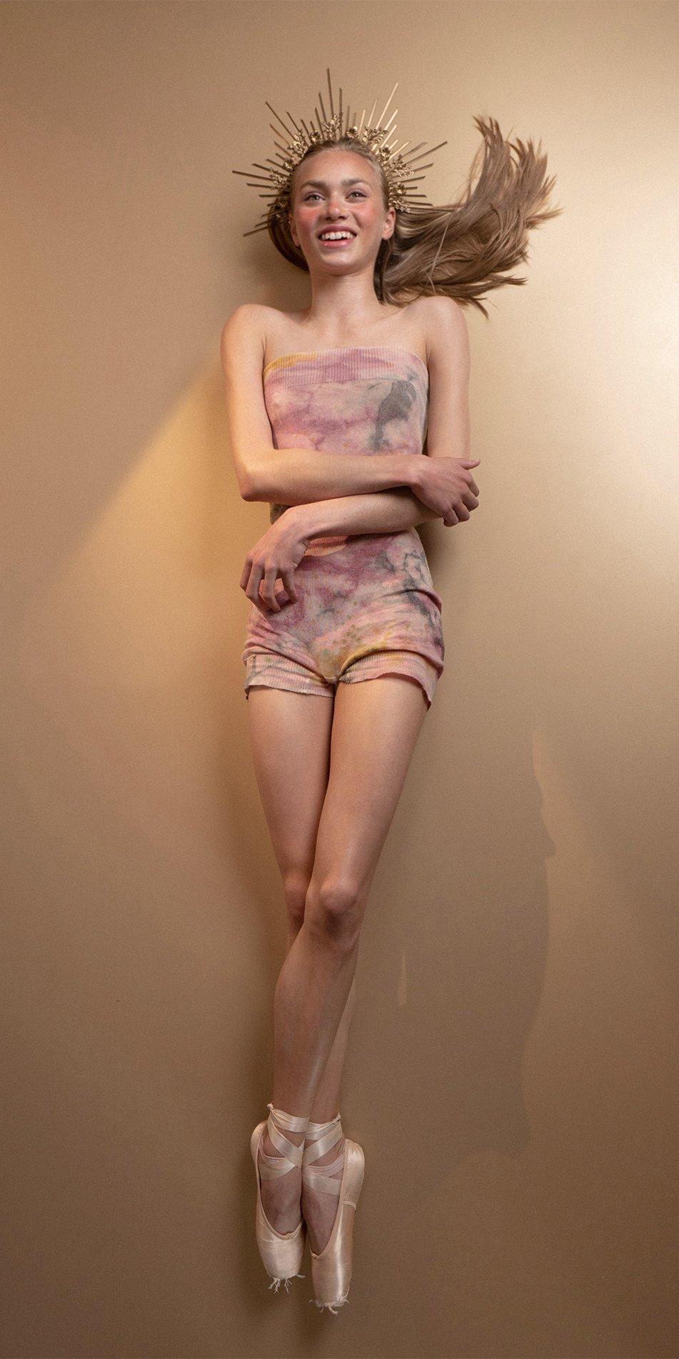 TIETIE DYE KNIWEAR shorts burgundy 9