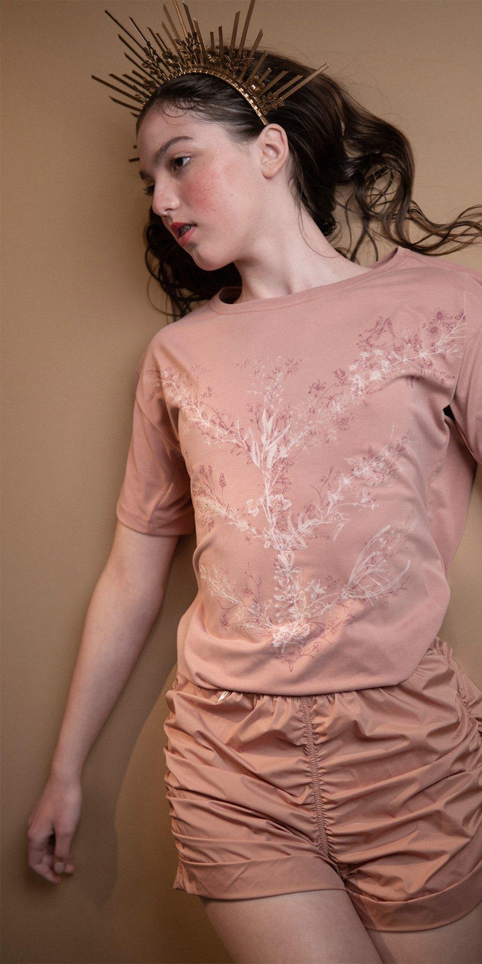 TREE OF LIFE blush printed boyfriends t shirt 1
