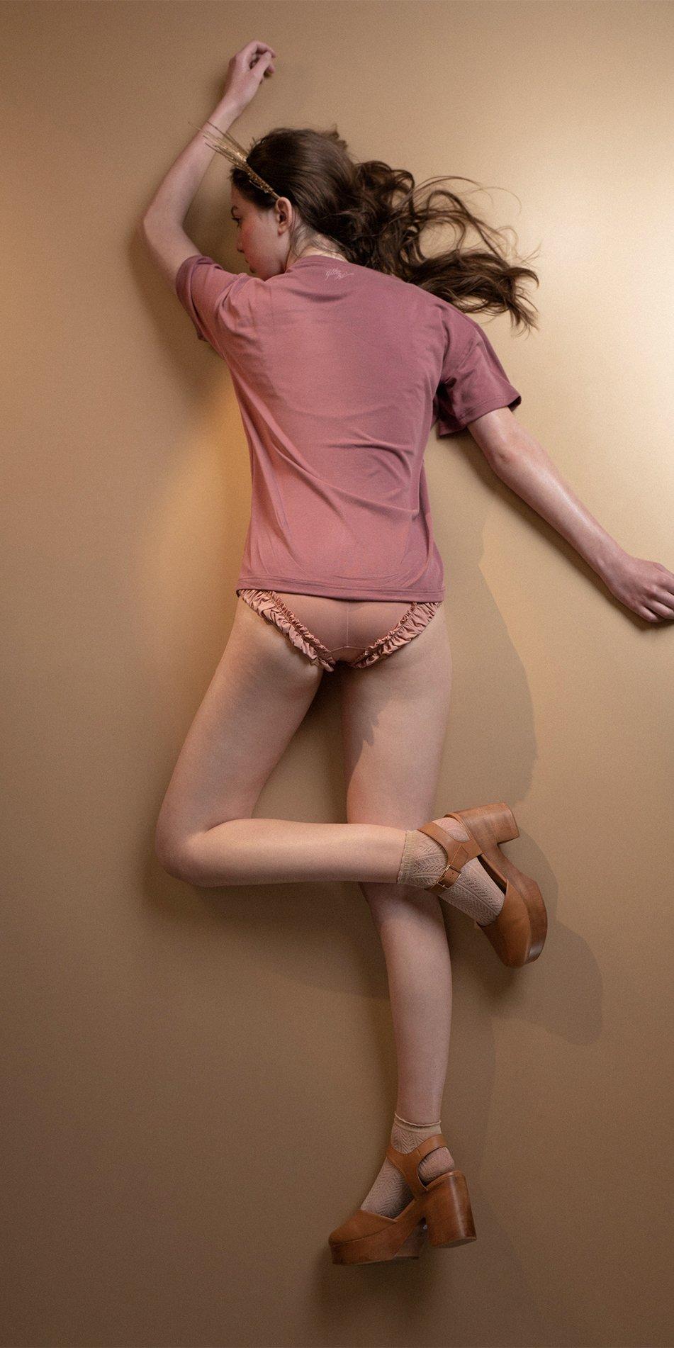 TREE OF LIFE burgundy printed boyfriends t shirt 1